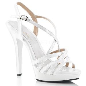 Bílá 13 cm Fabulicious LIP-113 dámské sandály na podpatku