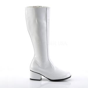 Bílá 5 cm FUNTASMA GOGO Dámské Kozačky
