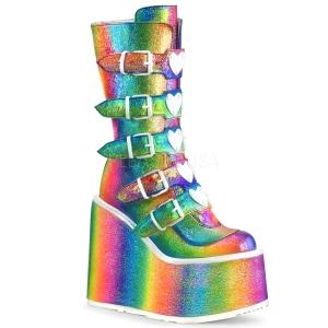 Duha Glitter 14 cm SWING-230 kozačky cyberpunk na platformy
