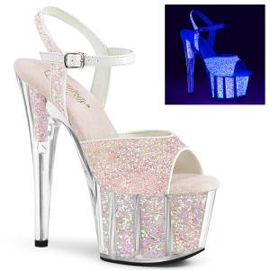Glitter platformě 18 cm ADORE-710UVG sandaly na podpatku pro tanec na tyči