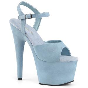 Modrý Koženka 18 cm ADORE-709FS dámské sandály na podpatku