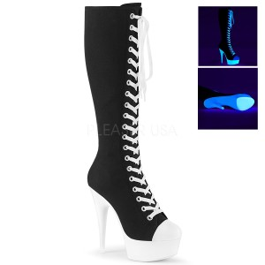 Neon 15 cm DELIGHT-2000SK plátno tenisky kozačky na podpatku