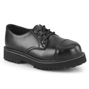 Pravé kůže RIOT-03 demonia boty  - unisex punk boty ocelové špice