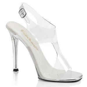 Průhledný 11,5 cm GALA-07 Večerní sandály s podpatkem