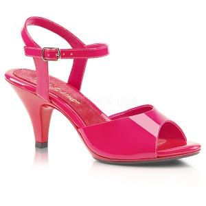 Růžový Lakované 8 cm BELLE-309 Dámské Sandály Podpatky