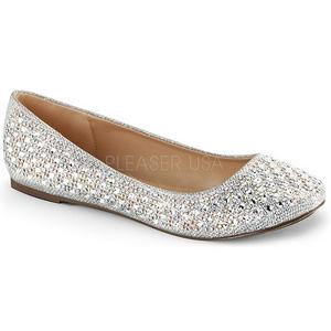 Stříbro TREAT-06 křištálový kámen dámské baleríny obuv
