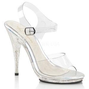 Třpyt 12,5 cm Fabulicious POISE-508MG dámské sandály na podpatku