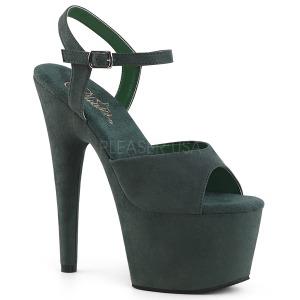 Zelený Koženka 18 cm ADORE-709FS dámské sandály na podpatku