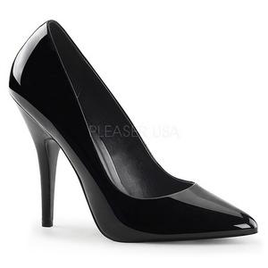 Černý Lakované 13 cm SEDUCE-420 Lodičky pro muže