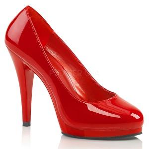 Červený 11,5 cm FLAIR-480 dámské boty na vysokém podpatku