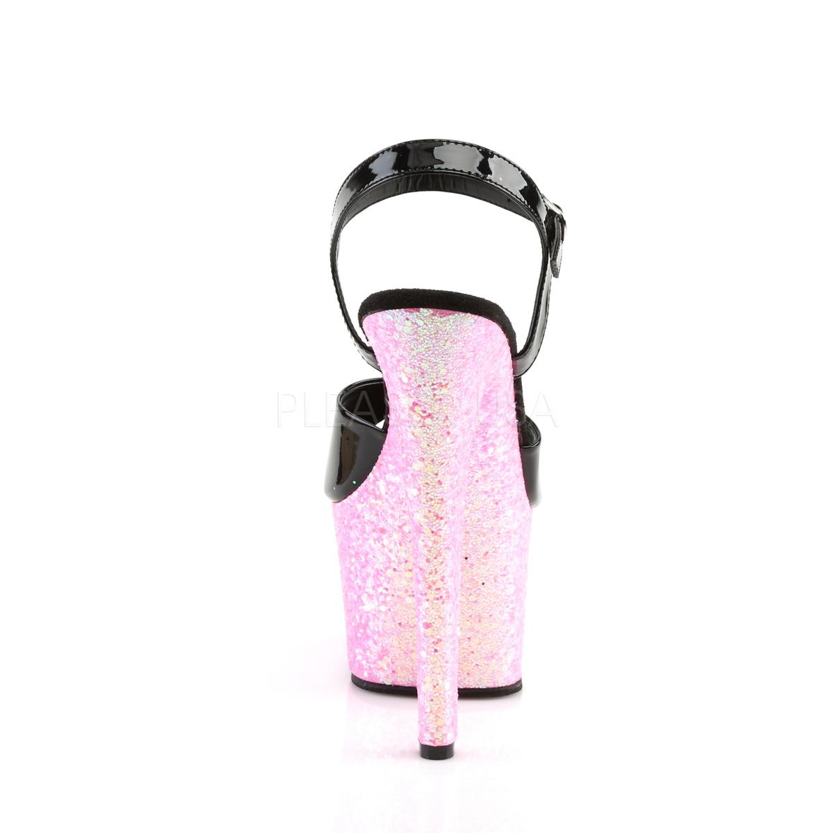 Růžový třpytky 18 cm Pleaser SKY-309LG Boty na podpatku pro tanec na tyči db1f7d4d88