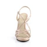 Bezový 11,5 cm FLAIR-413 Fabulicious Sandály Podpatky