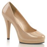 Bezový 11,5 cm FLAIR-480 dámské boty na vysokém podpatku