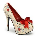 Bezový 14,5 cm TEEZE-12-3 dámské boty na vysokém podpatku