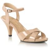 Bezový 8 cm Fabulicious BELLE-315 dámské sandály na podpatku