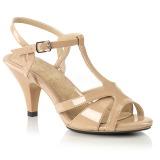 Bezový 8 cm Fabulicious BELLE-322 dámské sandály na podpatku