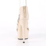 Bezový elastický pás 15 cm DELIGHT-669 pleaser boty na podpatku