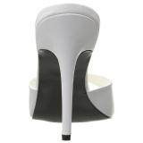 Bílá 10 cm CLASSIQUE-01 nízký podpatek pantoflicky dámské