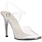 Bílá 11,5 cm FABULICIOUS GALA-08 Večerní sandály s podpatkem