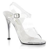 Bílá 11,5 cm FABULICIOUS GALA-08 dámské sandály na podpatku
