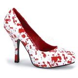 Bílá 13 cm BLOODY-12 dámské boty na vysokém podpatku