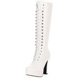 Bílá 13 cm Pleaser ELECTRA-2020 Platformě Dámské Kozačky