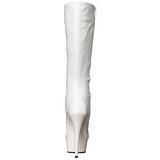Bílá 15,5 cm DELIGHT-2023 Platformě Dámské Kozačky