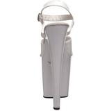 Bílá 20 cm Pleaser XTREME-809 Vysoké Podpatky Platformě