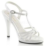 Bílá Lakované 12 cm FLAIR-420 sandály vysoký podpatek