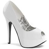 Bílá Lakované 14,5 cm Burlesque TEEZE-22 Lodičky Dámské Stiletto Podpatků