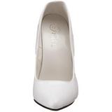 Bílá Lakované 15 cm DOMINA-420 Lodičky na jehlovém podpatku