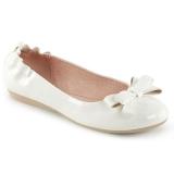 Bílá OLIVE-03 balerínky ploché dámské boty s motýlek