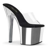 Chrom 18 cm Pleaser RADIANT-701 pantoflíčky na podpatku