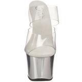 Chrom Průhledný 18 cm SKY-302 Pantofle na vysokém podpatku