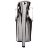 Chrom Průhledný 19 cm TABOO-701 Pantofle na vysokém podpatku
