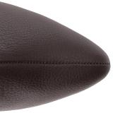 Hnědý Koženka 10 cm DREAM-2030 velké velikosti kozačky dámské
