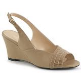 Hnědý Koženka 7,5 cm KIMBERLY-01SP velké velikosti sandály dámské