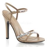 Hnědý kamínky 11,5 cm MELODY-15 Večerní Sandály s podpatkem