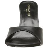 Koženka 10 cm CLASSIQUE-01 nízký podpatek pantoflicky dámské