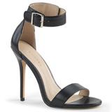 Koženka 13 cm AMUSE-10 Muži botách na vysokém podpatku