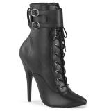 Koženka 15 cm DOMINA-1023 stiletto boty na vysoké podpatky