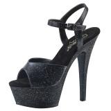 Koženka 15 cm Pleaser KISS-209MMG třpyt boty na vysokém podpatku
