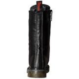 Koženka 3,5 cm RIVAL-300 Černé punkové kozačky s tkaničkami