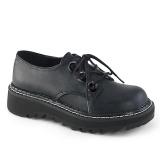 Koženka 3 cm LILITH-99 Černé punkové boty s tkaničkami