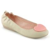 Krem OLIVE-05 balerínky ploché dámské boty
