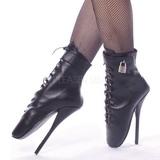 Kůže 18 cm BALLET-1025 fetiš balet kotníkove boty