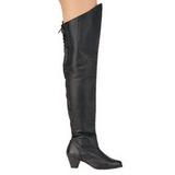 Kůže 6,5 cm MAIDEN-8828 dlouhe kozačky nad kolena