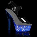 LED zarovka platformě 15 cm ECHOLITE-208 sandaly na podpatku pro tanec na tyči
