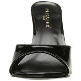 Lakovaná 10 cm CLASSIQUE-01 nízký podpatek pantoflicky dámské