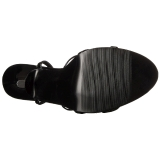Lakovaná 15 cm Devious DOMINA-108 dámské sandály na podpatku